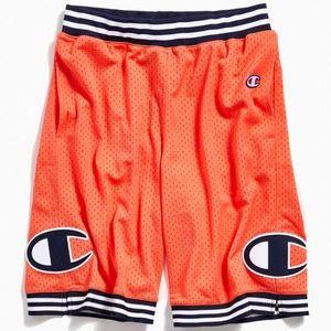 NWT CHAMPION rec mesh shorts basketball coral Sm